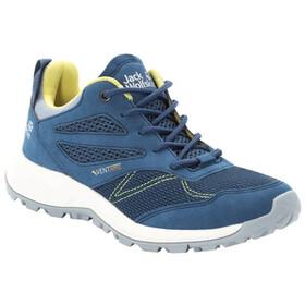 Jack Wolfskin Woodland Vent Low-Cut Schuhe Damen blue/lemon